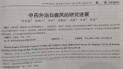 【白癜风科研】论文《中医外治白癜风的研究进展》刊表于中国核心